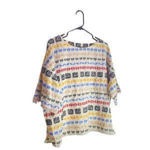 Lou & Grey colorful thread desigend boxy style top